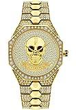 Police Unisex Erwachsene Analog Quarz Uhr mit Edelstahl Armband PL16027BSG.22M