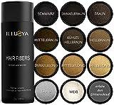 ILLUSYA Streuhaar - Schütthaar - Hair Fibers zur Haarverdichtung. Premiummarke. Volles und dichteres Haar in Sekunden 25g (DUNKELBRAUN)