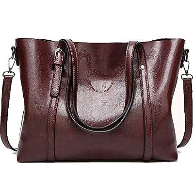 Cawmixy Satchels Women Handbag Shoulder Bags Classic Tote Ladies Hobo Purses Designer Woman Top-Handle Bags (New Wine)