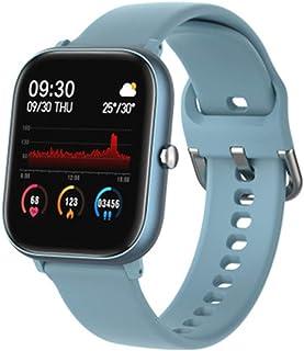 WUHUAROU Reloj Inteligente Deportivo Resistente al Agua con frecuencia de Pulsera Compatible con Android iOS (Color : Blue)