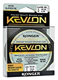 Konger KEVLON - Hilo de pesca trenzado (150 m, 0,06 - 0,20 mm, 0,16 mm), color negro
