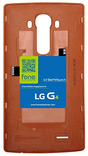 G4 SlimPWRpatch - Ultra Thin Qi Wireless Receiver NFC Antenna Sticker Card Patch Module for LG G4. Compatible with Verizon, T-Mobile, Sprint. Recommended to use with QiStone+, WoodPuck or KoolPad