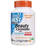 Doctor's Best Beauty Ceramides with Ceramide-PCD, Skin, Immune, Heart & Joint Health, Veggie Soft Gels, 60Count