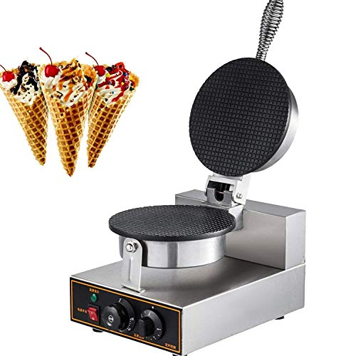 Read About IMPROVED Commercial Egg Roll Bowl Machine 110V Electric Ice Cream Waffle Cone Maker, 1200...