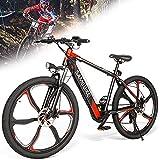 DDCHH Bicicleta De Montaña Eléctrica De 26 Pulgadas, Bici Eléctrica 350W para Adultos, Batería de Litio 36V 8Ah, Shimano 7 Velocidades Y Horquilla De Suspensión