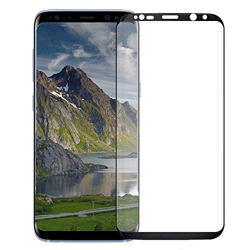 MYCASE Schutzglas 3D für Samsung Galaxy S7 Edge SCHWARZ Schutzglas Verb&glas 9H Foli