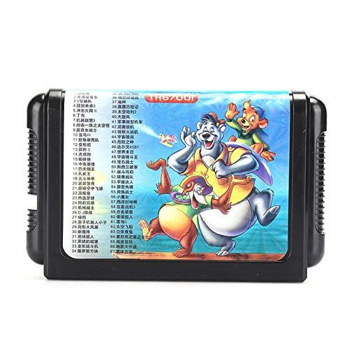 Agatige 16-bitars bärbart spelkort med stor kapacitet för Se-g-a gamepad tillbehör universell bärbar present (TH67001)