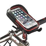 Pantalla táctil a prueba de agua Bolsas de manillar de la bicicleta Soporte para teléfono móvil Mount Holder Para Celular Menos de 7.5 pulgadas con visera solar , red