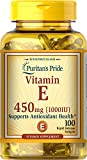 Vitamin E 1000 IU for Immune and Healthy Skin Support by Puritan's Pride For Immunity Support 100 Softgels