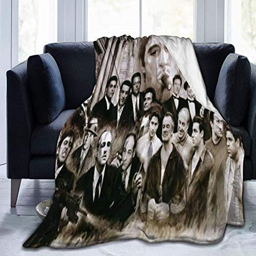 Manta de microforro polar ultrasuave, Gángster, Dios Padre, decoración del hogar, manta cálida para sofá cama, 152 x 50 pulgadas