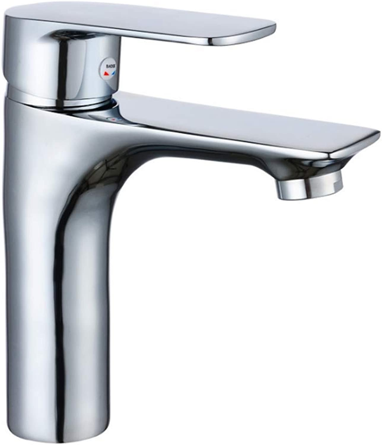 Kitchen Taps Faucet Modern Kitchen Sink Taps Stainless Steelface Basin Faucet Mixed Water Cold and Hot Water Faucet Single Hole Face Basin Faucet