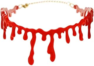 Remaxm 2 stücke Frauen Halskette Halloween Party Decor Kleid Blut Choker halsketten