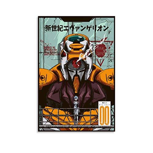 IEJDA Neon Genesis Evangelion Anime-Poster, dekoratives Gemälde, Leinwand, Wandkunst, Wohnzimmer, Poster, Schlafzimmer, Malerei, 30 x 45 cm