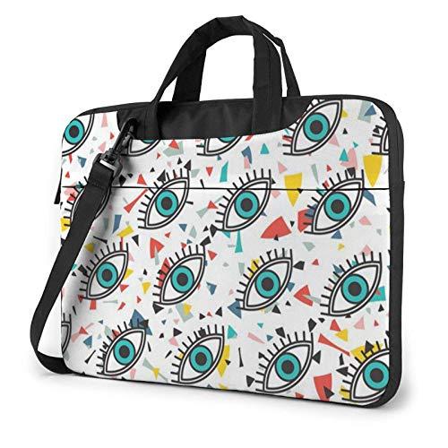 Funda para portátil Evil Eyes Bolso de Neopreno Lindo Elegante para portátil de 14 Pulgadas