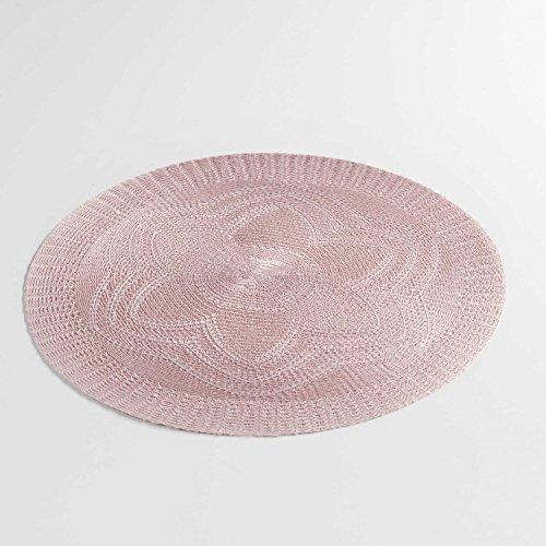 Arinosa 2 er Set Platzmatten Tischsets Rosa Vintage Shabby Chic Landhaus Ø38 cm
