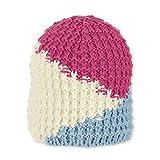 Sterntaler - Mädchen Mütze gefüttert Wintermütze Strickmütze Fleecefutter, pink beige hellblau- 4721903, Größe 55