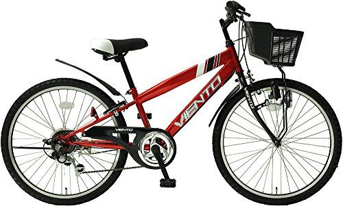 子供用自転車 24インチ ジュニアマウンテンバイク CTB シマノ6段変速ギア カゴ 鍵 ライト 泥除け チェーン...