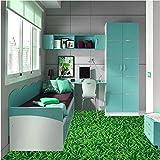 Benutzerdefinierte 3D-Bodenfolie Bodenmalerei HD grüne Wiesenlandschaft Wasserdichte Badezimmer Küche PVC Selbst Wandaufkleber Boden Home Decoration