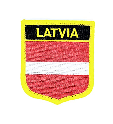 Gemelolandia   Aufnäher zum Aufbügeln, Flagge Lettland, 7 x 6 cm   Originelle Geschenke   Aufnäher, Manschettenknöpfe, Schlüsselanhänger & Mehr