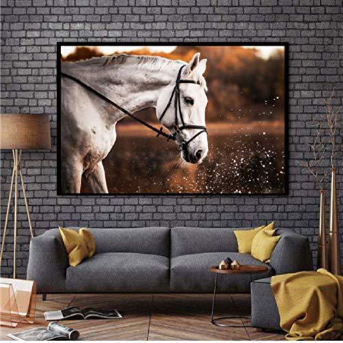 Estilo chino 8 Running Horses Animal Modern Impreso Pintura al óleo sobre lienzo Pinturas Imagen para la sala de arte Decoración de la pared H 40 * 60cm