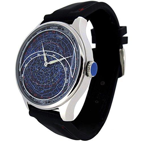 Astro Constellation Armbanduhr, Planisphäre und Astronomie Celestial Uhr