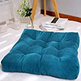 """Square Floor Seat Cushions 22"""" x 22"""", Soft Thicken Tufted Patio Meditation Pillows for Sitting on Floor Reading Cushion Chair Pad Casual Seating for Adults, Blue"""