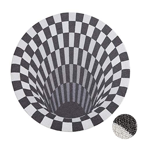 Rugs Room Décor Round Three-Dimensional Geometric Carpet Creative Living Room Bedroom Floor Mat Children's Room Carpet Living Room Coffee Table Mat (Color : Gray, Size : 150150cm)