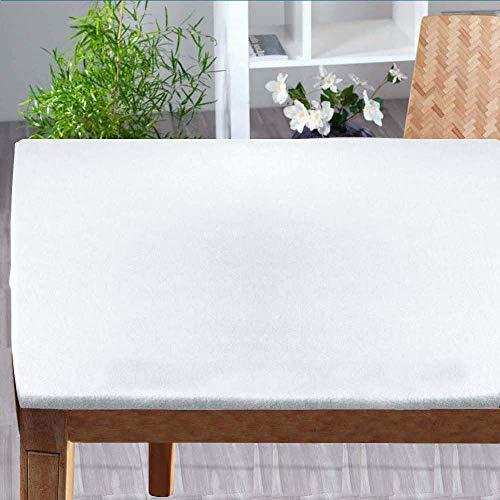 Biancocasa Sottotovaglia Rettangolare (Mollettone Panno) con Angoli + Elastico cm 120x200 per Misure Tavolo (da 80x160 a 100x180) distribuito by