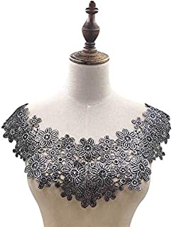 Colorful Embroidery Collar Trims Appliques (Silver)