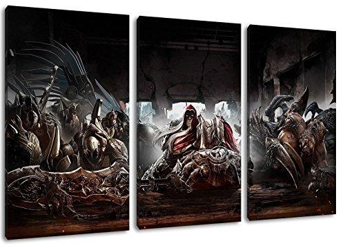 Dark Darksiders 3 Partes sobre Lienzo, tamaño Total: 120x80 cm terminó Framed...