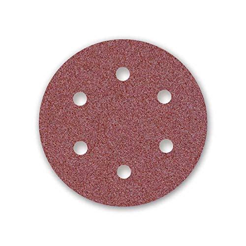 MENZER Red Klett-Schleifscheiben, 225 mm, 6-Loch, Korn 40, f. Trockenbauschleifer, Normalkorund (5 Stk.)