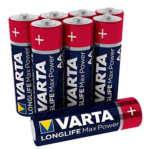 VARTA Longlife Max Power Batterie AA Mignon Alkaline Batterien LR6, 8er Pack