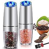 Gravity Electric Salt and Pepper Grinder Set,...
