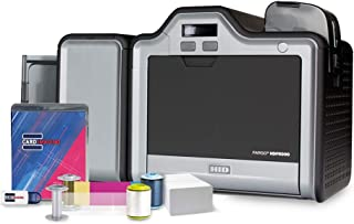 Fargo HDP5000 Dual Side w/Mag Encoder ID Card Printer & Supplies Bundle with Card Imaging Software 89013