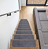 Ottomanson SST Softy Stair TREADS, 14 Pack, Dark Gray, 14 Count