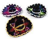 5' Mexican Decorative Mini Charro Sombrero Felt Hat 3 Pack Fiesta Assortment Mariachi
