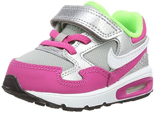 Nike Air Max St (tdv), Baby Mädchen Lauflernschuhe, Mehrfarbig (hot Pink/white/metallic Silver/mint), 37 1/3 EU