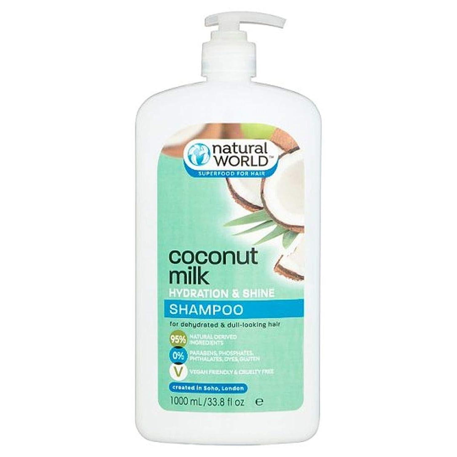 アフリカ永続あなたは[Natural World ] 自然界ココナッツウォーターシャンプー千ミリリットル - Natural World Coconut Water Shampoo 1000Ml [並行輸入品]