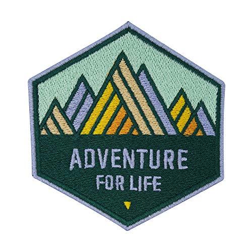 Finally Home Adventure Collection: Adventure for Life Montaña - Parche termoadhesivo para planchar