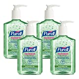 Purell - 9674-04-ECIN PURELL Advanced Hand Sanitizer Soothing Gel, Fresh Scent, with Aloe and Vitamin E - 8 fl oz Pump Bottle (Pack of 4) - 9674-06-EC