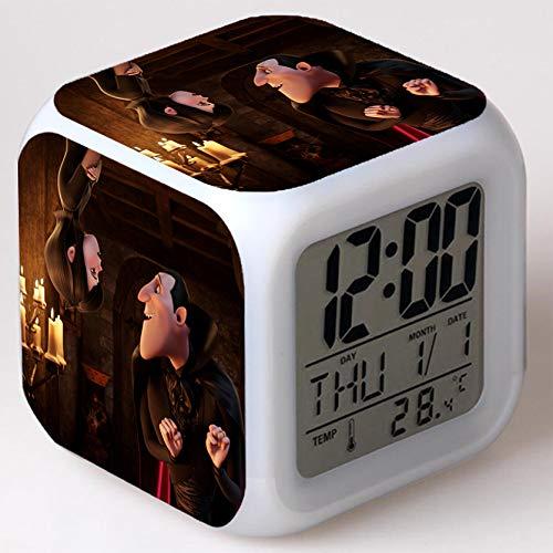 Wizard Hostel Alarm Clocks Kids LED Clock Cartoon Night Light Flash 7 Color Changing Digital Clock Electronic Desk Clock,Style 28, Birthday