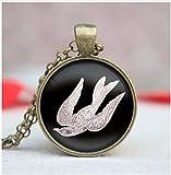 Jaula colgante jaula para pájaros para hombre joyería mejor amigo regalo vintage collar, collar colgante de pájaro, collar de jaula de pájaro de bronce, joyería
