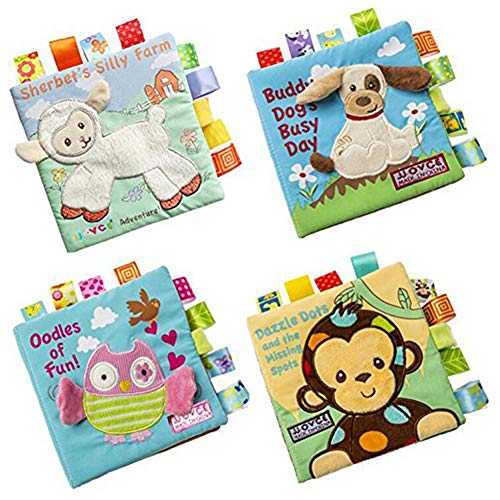 Brave669 Learning & Education Toys, 4Pcs/Set 3D Animal Baby Soft Cloth Books Rustling Sound Activity Learning Toy,Best Gift for Your Child