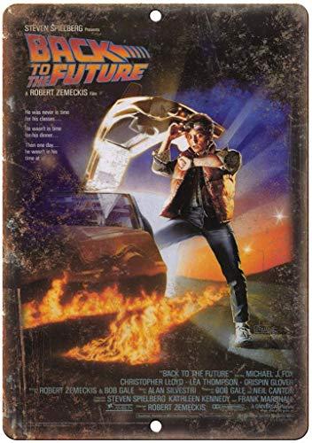 DGBELL Back to The Future Movie Cartel de Pared de Chapa Decoración de Arte de Pared Placa de Metal Vintage Cartel Retro Hombre Cueva Patio Teatro Regalo