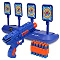 Digital Shooting Targets with Foam Dart Toy Shooting Blaster , 4 Targets Auto Reset Electronic Scoring Toys, Shooting Toys for Age of 5,6,7,8,9,10+ Years Old Kid/Boys/Girls, for Nerf Toys Blaster