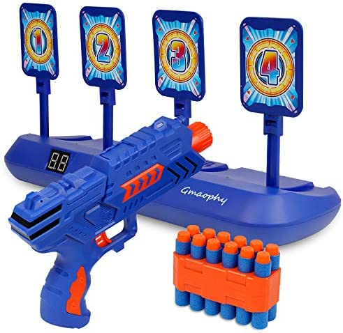 Digital Shooting Targets with Foam Dart Toy Shooting Blaster 4 Targets Auto Reset Electronic product image