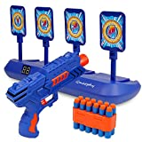 Digital Shooting Targets with Foam Dart Toy Shooting Blaster , 4 Targets Auto Reset Electronic...