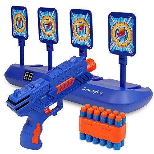 Digital Shooting Targets with Foam Dart Toy Shooting Blaster   4 Targets Auto Reset Electronic Scoring Toys  Shooting Toys for Age of 5 6 7 8 9 10+ Years Old Kid Boys Girls  for Nerf Toys Blaster