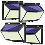WAKYME 288 LED SensorLightsOutdoor, 4 Pack 2000LM Super Bright Solar Lights Outdoor with 3 Modes, 270°Wide Angle, Wireless IP67 Waterproof SolarSecurityLights for Garden, Patio, Yard, Garage