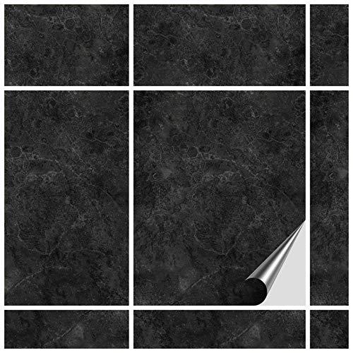 FoLIESEN Fliesenaufkleber 20x25 cm - Fliesen-Folie Bad - Klebefolie Küche - 15 Klebefliesen, Dekor Fontanella